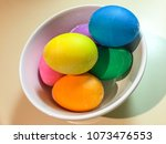 easter eggs are decorated eggs... | Shutterstock . vector #1073476553
