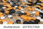 abstract 3d background made of... | Shutterstock . vector #1073517203