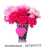 beautiful spring flowers in cup ... | Shutterstock . vector #107357777