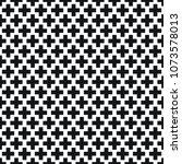 black and white geometric plus... | Shutterstock .eps vector #1073578013