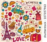 Vector Set Of Paris Symbols....