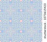 geometric seamless pattern.... | Shutterstock .eps vector #1073615423