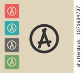 anarchy   vector icon in trendy ...
