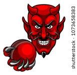 a devil cartoon character...   Shutterstock .eps vector #1073658383