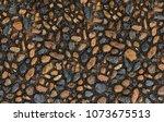 smooth fine cobblestone surface ...   Shutterstock . vector #1073675513