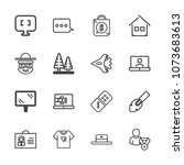 premium outline set of icons... | Shutterstock .eps vector #1073683613