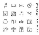 premium outline set of icons...