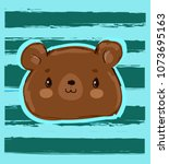 teddy bear vector illustration  ... | Shutterstock .eps vector #1073695163