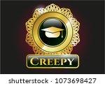 golden emblem or badge gold... | Shutterstock .eps vector #1073698427
