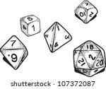 Role Playing Dice Illustration