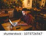 a young handsome caucasian man... | Shutterstock . vector #1073726567