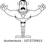 a cartoon superhero looking... | Shutterstock .eps vector #1073729813