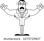 a cartoon scientist looking... | Shutterstock .eps vector #1073729837
