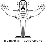 a cartoon scientist looking... | Shutterstock .eps vector #1073729843