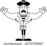 a cartoon pirate looking scared. | Shutterstock .eps vector #1073729867