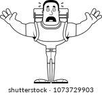 a cartoon hiker looking scared. | Shutterstock .eps vector #1073729903