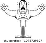 a cartoon doctor looking scared. | Shutterstock .eps vector #1073729927