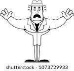 a cartoon detective looking... | Shutterstock .eps vector #1073729933