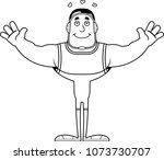 a cartoon wrestler ready to... | Shutterstock .eps vector #1073730707