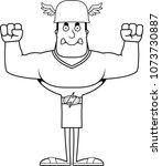 a cartoon hermes looking angry. | Shutterstock .eps vector #1073730887