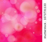 pink bokeh lights background.... | Shutterstock .eps vector #1073731133