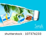 background with photos from... | Shutterstock .eps vector #107376233