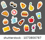 pixel art food computer design... | Shutterstock .eps vector #1073800787