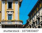 vibrant mediterranean colorful... | Shutterstock . vector #1073833607