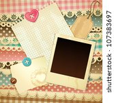 scrapbook template | Shutterstock .eps vector #107383697