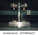 bar beer tap in closed saloon...   Shutterstock . vector #1073846627