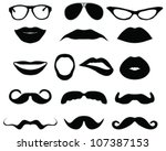 mustaches and other accessories ... | Shutterstock .eps vector #107387153