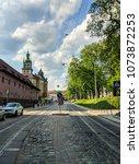 lviv old architecture cityscape ... | Shutterstock . vector #1073872253