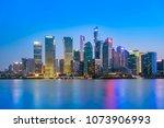 shanghai the bund lujiazui... | Shutterstock . vector #1073906993