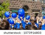 kyiv  ukraine   april 21  2018  ... | Shutterstock . vector #1073916803