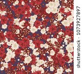 autumn pattern. floral texture... | Shutterstock .eps vector #1073927897
