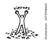 funny friday message in spanish ... | Shutterstock .eps vector #1073948663