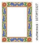 gothic manuscript floral border | Shutterstock .eps vector #1073972327