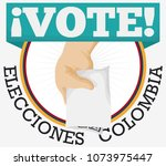 campaign round button with... | Shutterstock .eps vector #1073975447