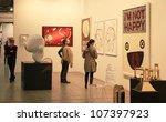 milan   april 08  people look... | Shutterstock . vector #107397923
