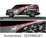 van graphic vector. abstract... | Shutterstock .eps vector #1073980367