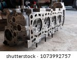 cylinder head  installed on the ... | Shutterstock . vector #1073992757