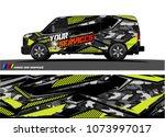 cargo van graphic vector.... | Shutterstock .eps vector #1073997017