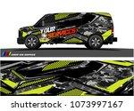 cargo van graphic vector.... | Shutterstock .eps vector #1073997167