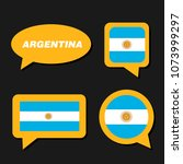 set of argentina flag in... | Shutterstock .eps vector #1073999297