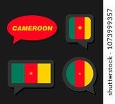 set of cameroon flag in... | Shutterstock .eps vector #1073999357