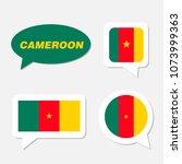 set of cameroon flag in... | Shutterstock .eps vector #1073999363