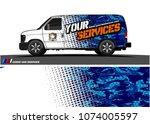 cargo van graphic vector....   Shutterstock .eps vector #1074005597