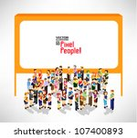 a large group of people... | Shutterstock .eps vector #107400893