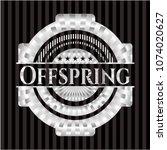 offspring silvery shiny emblem   Shutterstock .eps vector #1074020627