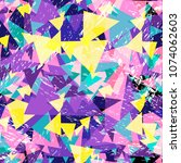 colorful geometric abstract...   Shutterstock .eps vector #1074062603